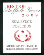 Best of Buffalo Grove 2008 Real Estate Inspection Award