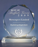 Best of Buffalo Grove 2009 Real Estate Inspection Award